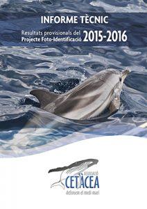 Informe tècnic 2015-2016 Associació Cetàcea